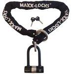 Kettingslot 120cm met loop + verlengde U-beugel van Maxx-Locks
